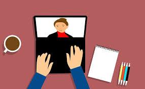 webinar on laptop