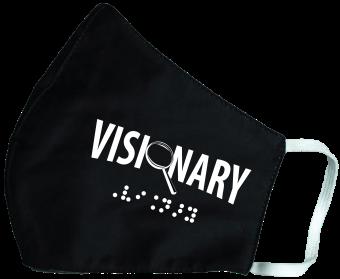 black visionary face mask